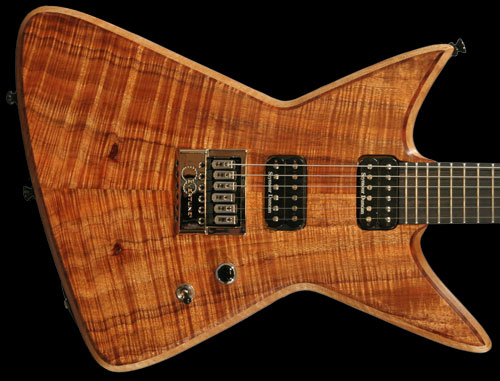 Bertram Nova Guitar, Highly Figured Koa Top