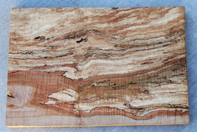 Spalted Maple Used for Guitar Construction