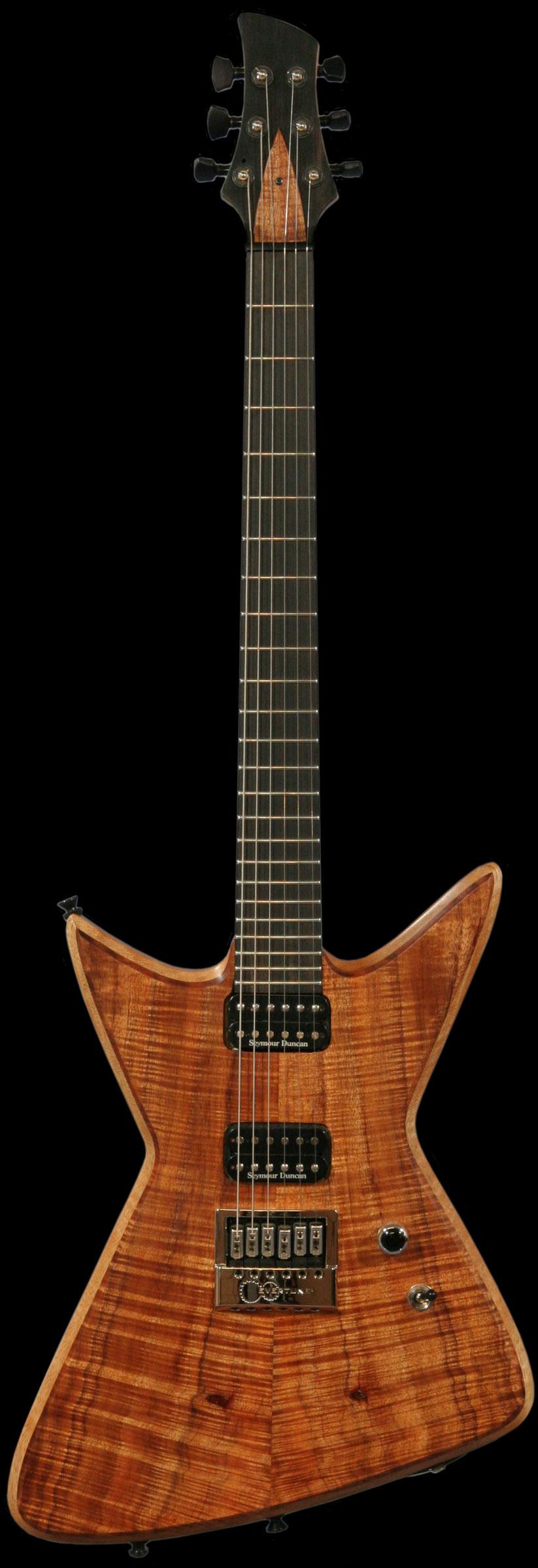 bertram nova guitar white korina and koa top custom guitar with evertune bridge. Black Bedroom Furniture Sets. Home Design Ideas